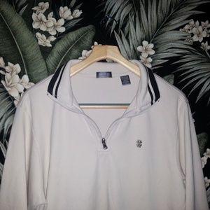 Men's Retro Izop Tan Half Zip Pullover
